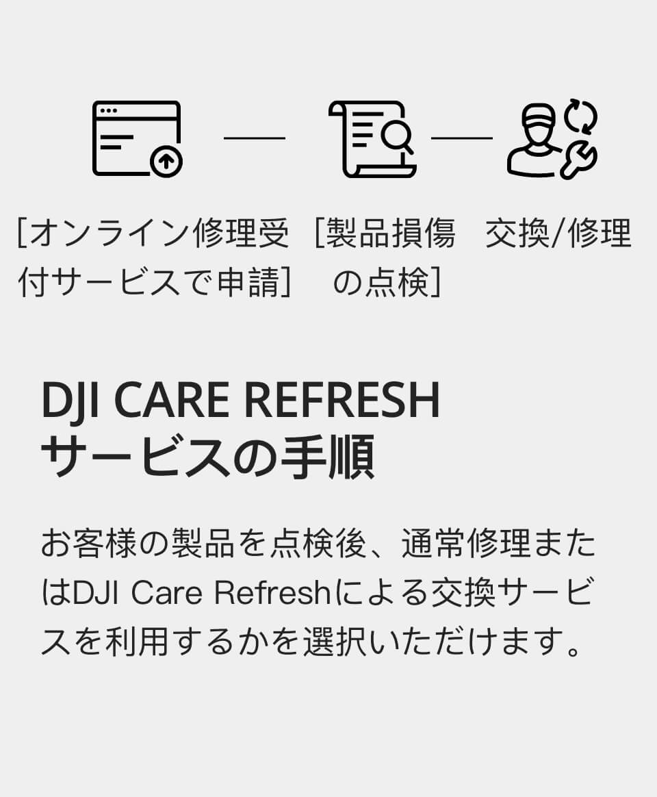 DJI Care Refresh (DJI OM 4) | DJI CARE REFRESHサービスの手順