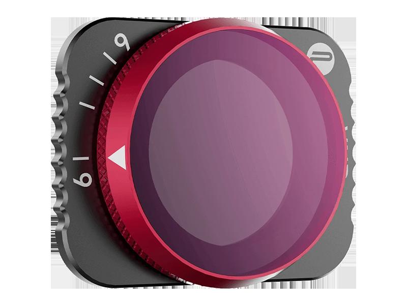 PGYTECH (ピージーワイテック) | PGYTECH MAVIC AIR 2用 可変式 NDフィルター  | 6-9 Stop (ND64 - ND512) [長時間露光/タイムラプス 向けモデル]