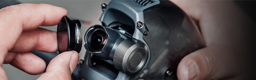 PGYTECH (ピージーワイテック) | PGYTECH DJI FPV用  レンズフィルター(ND 4 8 16)  | 簡単脱着でレンズを保護