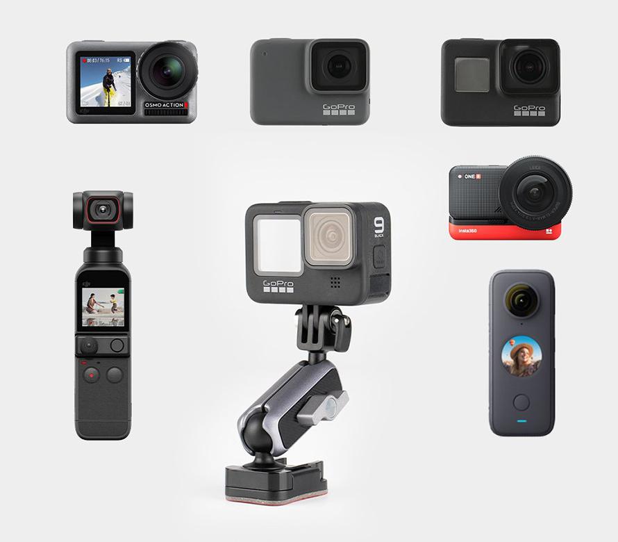 PGYTECH (ピージーワイテック) |  アクションカメラ用 粘着マウント  | GoPro シリーズ, Insta One R/X/X2, Osmo Pocket/Pocket 2, Osmo Actionのようなアクションカメラに最適です