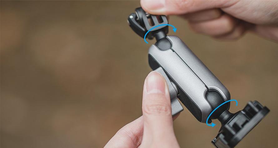 PGYTECH (ピージーワイテック) |  アクションカメラ用 粘着マウント  | 360度角度調整