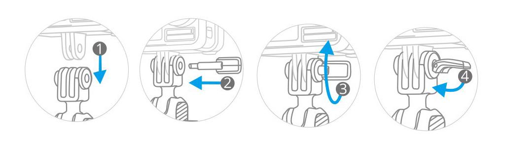 PGYTECH (ピージーワイテック) |  アクションカメラ用 粘着マウント  | PGYTECHピンの取り付け