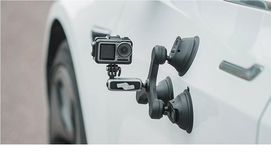 PGYTECH (ピージーワイテック) | アクションカメラ 用 3アーム吸盤式サクションカップ  | 強力吸着、多様な取り付け