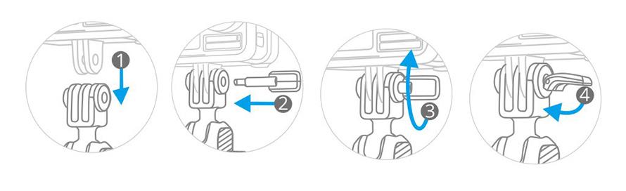 PGYTECH (ピージーワイテック) | アクションカメラ 用 3アーム吸盤式サクションカップ  | INSTALLATION OF PGYTECH PIN
