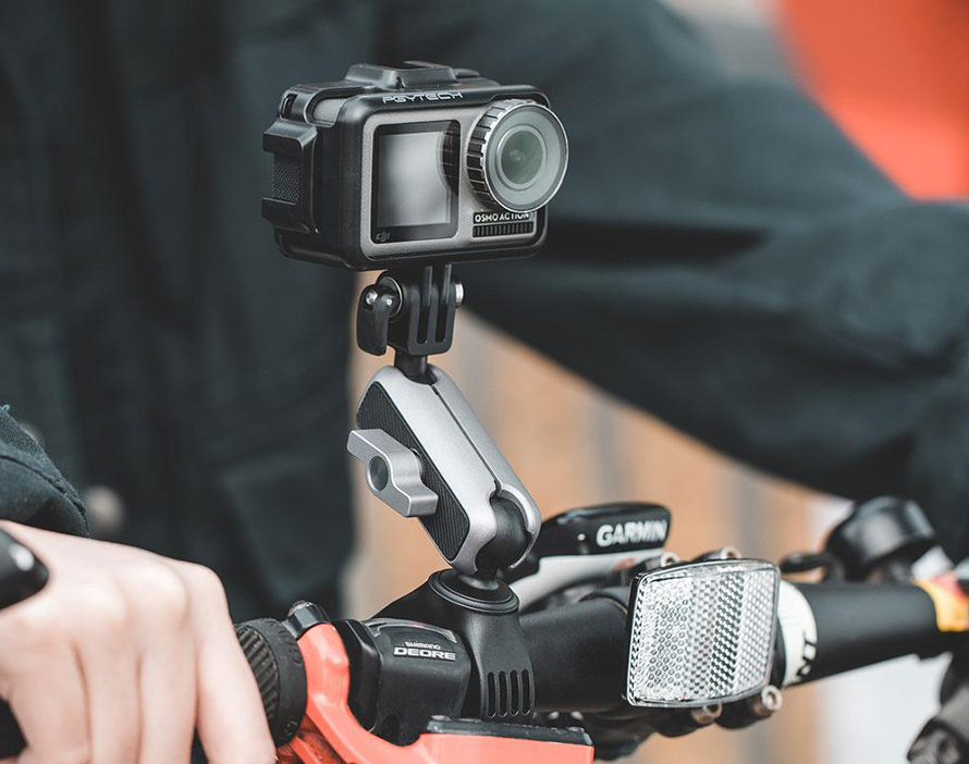 PGYTECH (ピージーワイテック) | アクションカメラ用 ハンドルマウント  | 安定性の向上、柔軟性の向上