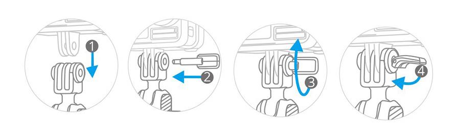 PGYTECH (ピージーワイテック) | アクションカメラ用 ハンドルマウント  | INSTALLATION OF PGYTECH PIN