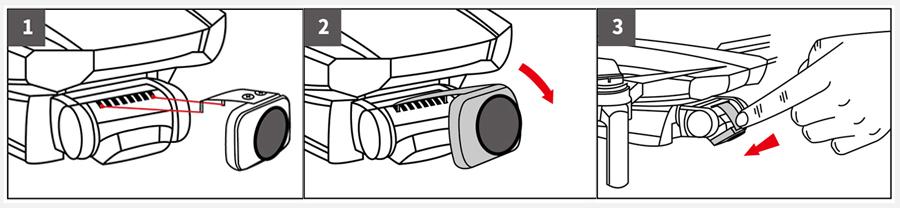 Kase MAVIC MINI用 レンズフィルター 4 in 1セット | フィルターの取り付け手順