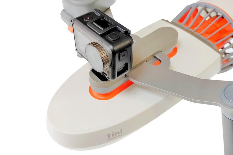 SUBLUE WhiteShark MixPro 水中スクーター | 本体上部にアクションカメラ用マウントを標準搭載。