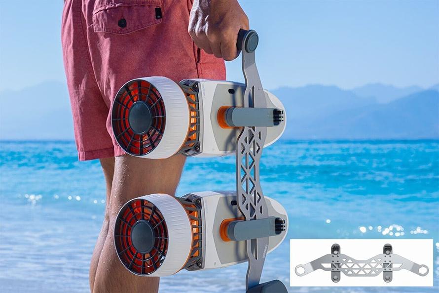 SUBLUE WhiteShark MixPro 水中スクーター | ダブルブースト用ハンドルブラケット