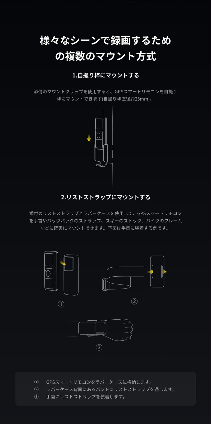 Insta360 ONE R | 複数のマウント方式