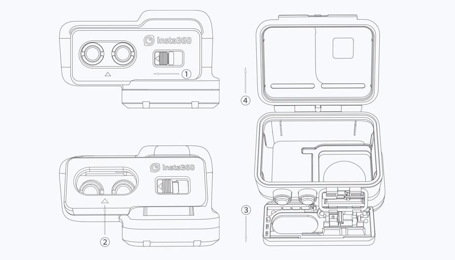 Insta360 ONE R | 1. ケースを開ける