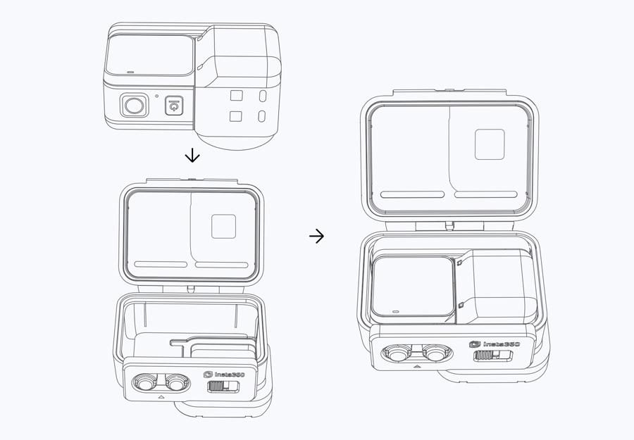 Insta360 ONE R | 2. カメラをケースに入れる