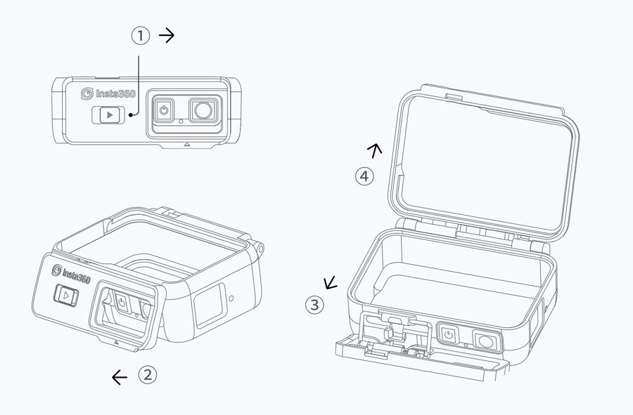 Insta360 ONE R | 1. マウントブラケットを開ける