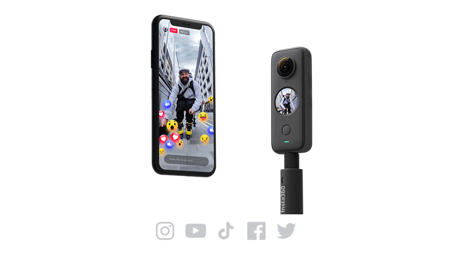 Insta360 ONE X2 | 360度でライブ配信