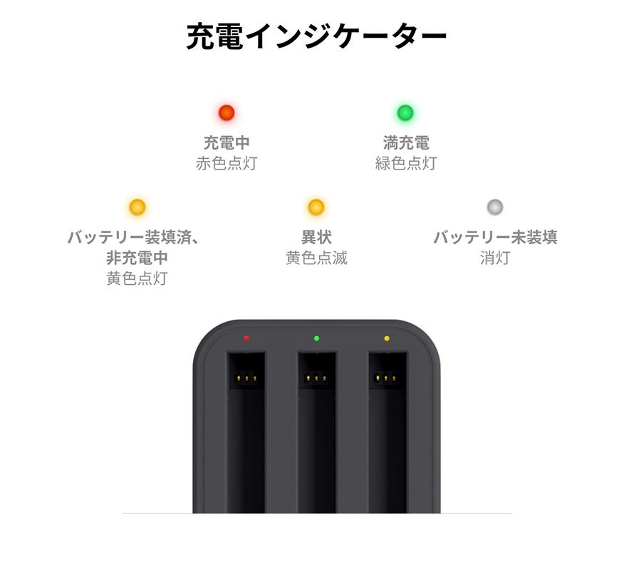 Insta360 ONE X2 高速充電ハブ | 充電インジケーター