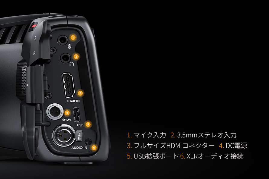 Blackmagic Pocket Cinema Camera 4K | プロ仕様のインターフェースでリグをカスタマイズ!