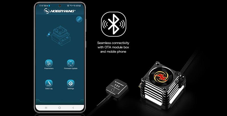 スマートフォンとOTAプログラマーで簡単設定変更