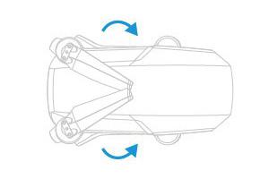 PGYTECH MAVIC MINI用 プロペラホルダー | 使用方法 | 1. 胴体の中央に収まるようにプロペラを収納します。