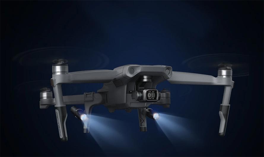 PGYTECH (ピージーワイテック) | PGYTECH MAVIC AIR 2用   拡張ランディングギア LEDヘッドランプ付き | Brave the night with easy landing