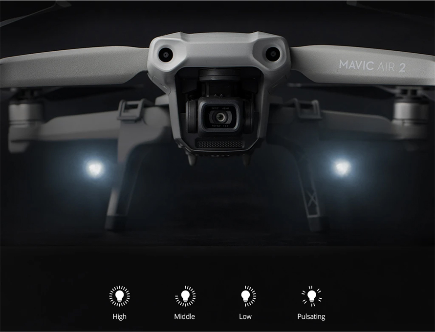 PGYTECH (ピージーワイテック) | PGYTECH MAVIC AIR 2用   拡張ランディングギア LEDヘッドランプ付き | Four light intensities accessible via rotary switch to meet all your needs