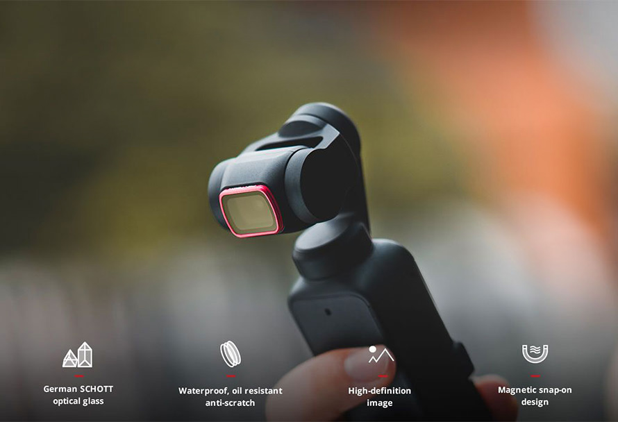 PGYTECH (ピージーワイテック) | PGYTECH DJI POCKET 2用 レンズフィルター Professional  | Precisely light control to capture with more creativity