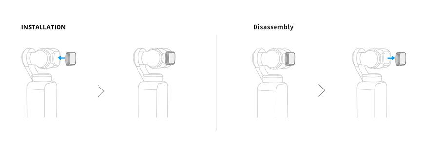 PGYTECH DJI POCKET 2用 レンズフィルター Professional  | フィルターの取り付け方