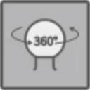 360°回転のボールヘッド構造
