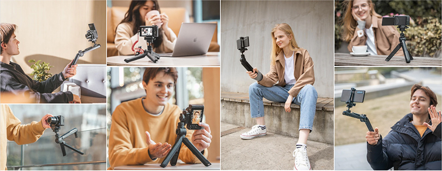 PGYTECH(ピージーワイテック)   MANTISPOD 多機能ミニ三脚    Multiple Modes to capture your life from every angle