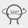 PGYTECH (ピージーワイテック) |  アクションカメラ用 粘着マウント  | 360°調整