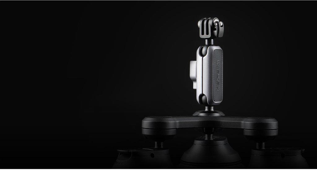 PGYTECH (ピージーワイテック) | アクションカメラ 用 3アーム吸盤式サクションカップ  |  丈夫なアルミニウム合金