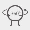 PGYTECH (ピージーワイテック) | アクションカメラ 用 3アーム吸盤式サクションカップ  | 360°調整