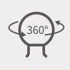 PGYTECH (ピージーワイテック) | アクションカメラ用 ハンドルマウント  | 360°調整
