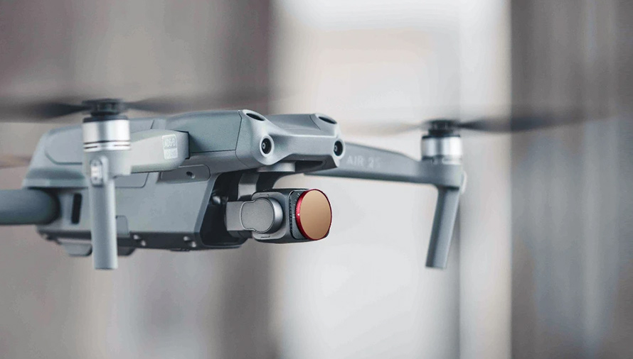 PGYTECH DJI Air 2S用 可変式NDフィルター  | Extremely light, yet robust without influencing drone performance.