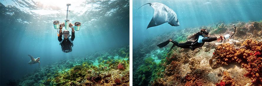 SUBLUE WhiteShark MixPro 水中スクーター | フローターを外せば水深40mの水圧まで対応可能な本格的なダイビング器材としても活用できます。