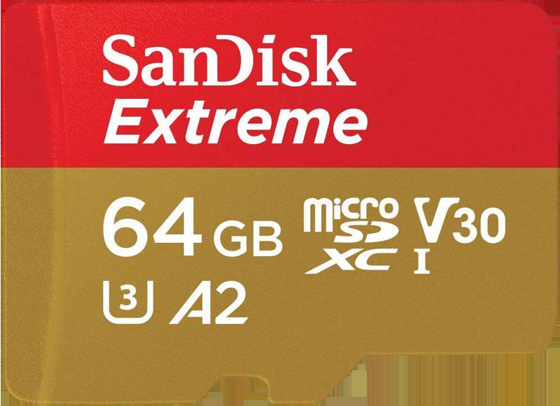 SanDisk Extreme microSDXCカード [64GB]