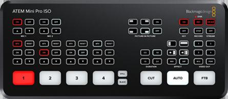 Blackmagic ATEM Mini スイッチャー | Blackmagic ATEM Mini Pro ISO