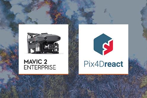 DJI MAVIC 2 ENTERPRISE & Pix4DReact